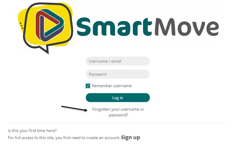 Password or username recovery